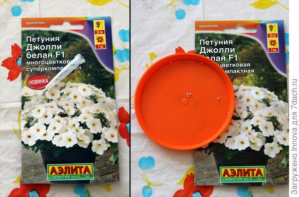 Дражированные семена петунии Джолли F1 белая