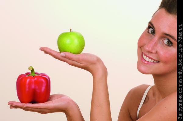Перец, яблоко