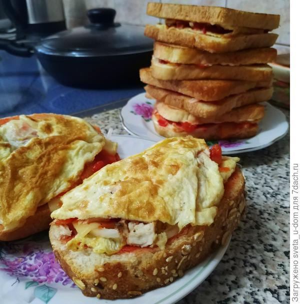 Сэндвич; по-нашему; пошаговый рецепт приготовления с фото