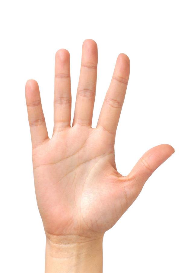 Правило ладони: площадь ладони = 1% поверхности тела