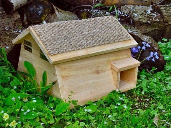 Деревянный дом для ежа. Фото с сайта rodovid.me