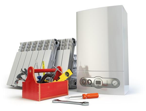Компоненты системы отопления: газовый котел и радиаторы