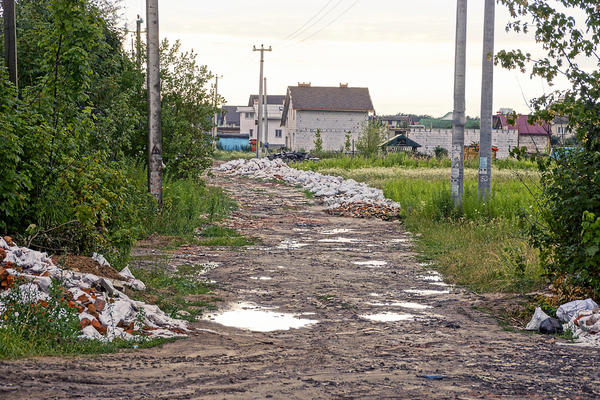 Благоустройство дорог - одна из главных проблем для дачных поселков