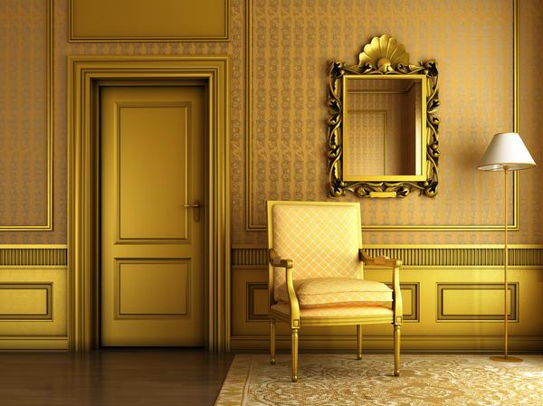 Золотой интерьер - это просто: используйте современные краски с золотистым пигментом