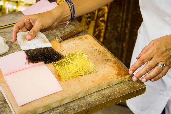 Лампензель - кисть для переноса золотой фольги