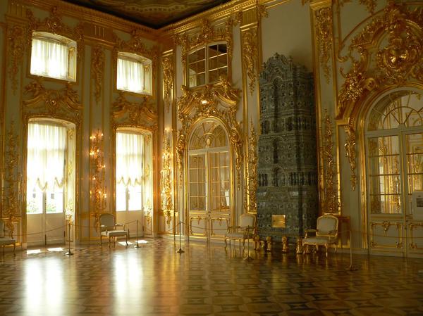 Зал Екатерининского дворца, город Пушкин
