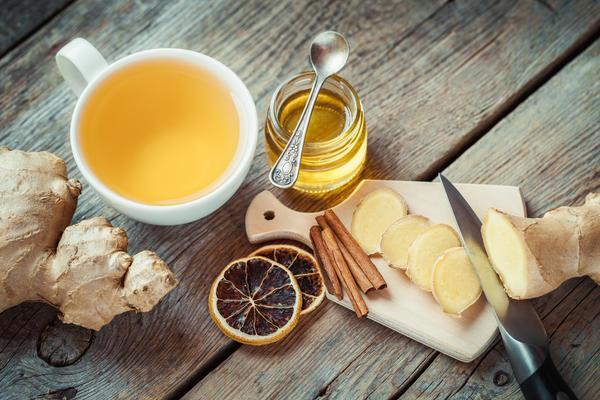 Чай с имбирем и мёдом