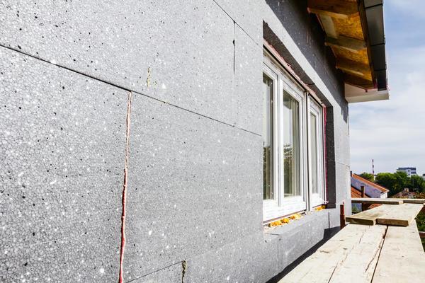 Утепление стены блоками из пеностекла