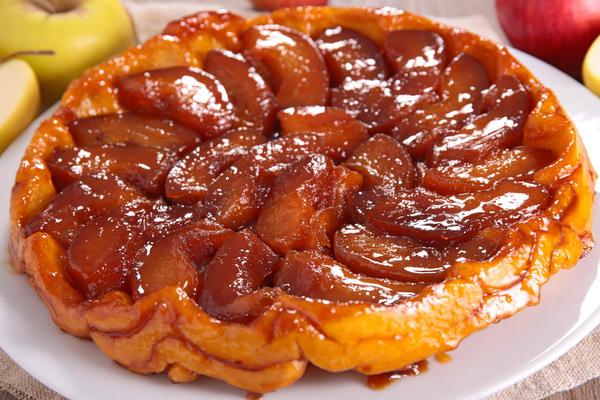 Яблочный десерт тарт Татен
