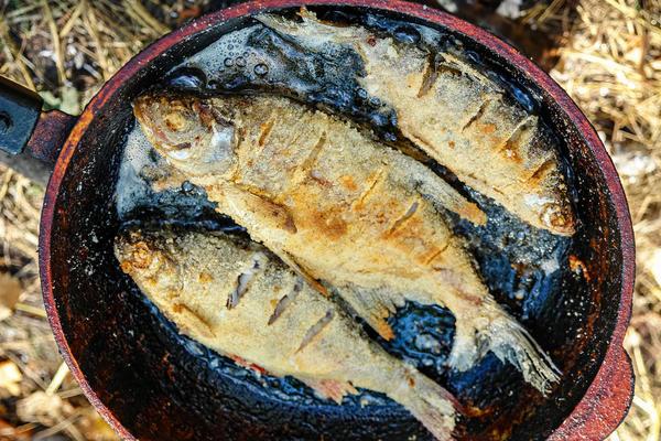 Крупную рыбу нужно жарить не меньше 15-20 минут