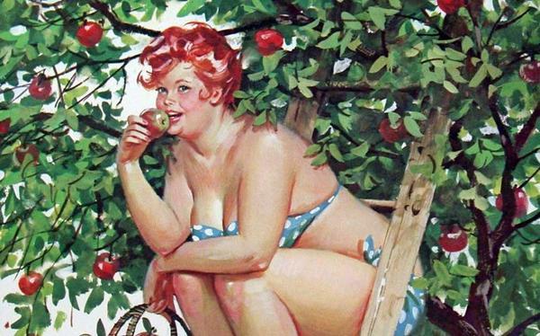 Толстушка Хильда и её дачная жизнь в рисунках Дуэйна Брайерса. Фото с сайта toilgirls.com
