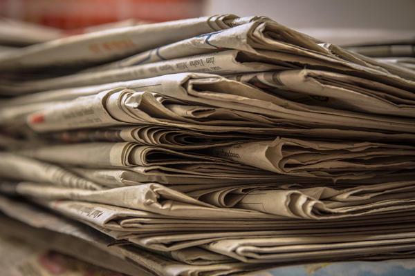 В качестве мульчирующего материала хорошо подходят черно-белые газеты