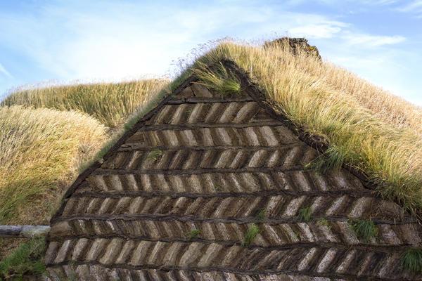 Традиционное торфяное жилище в Исландии