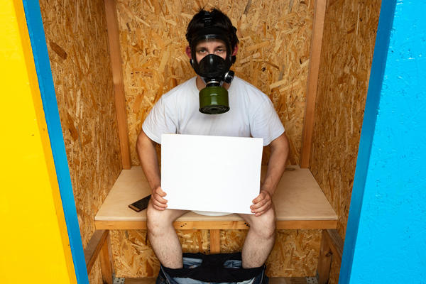 Засыпка в пудр-клозете исключает появление неприятных запахов