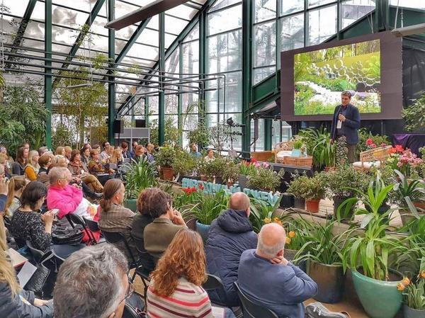 Тема конференции - улучшение экологии мегаполиса. Фото с сайта moscowflowerfest.ru