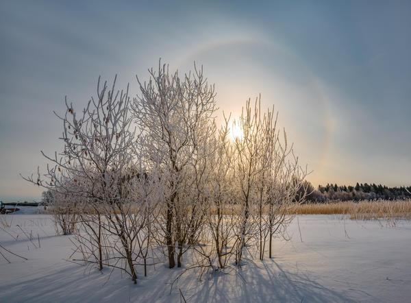 Зимняя радуга - удивительное природное явление