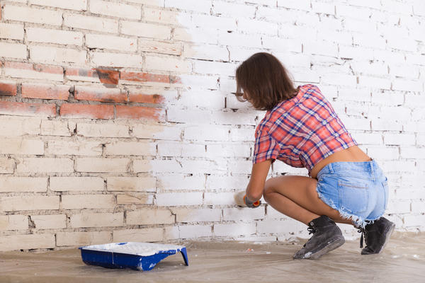 Кирпичам иногда может потребоваться покраска