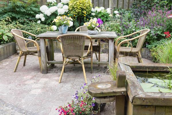 Рустикальный стиль сада