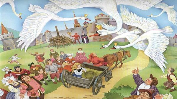 Иллюстрация к сказке Дикие лебеди Г. Х. Андерсена. Фото сайта youtube.com