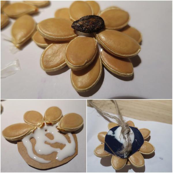 Изготовление ёлочной игрушки из семян