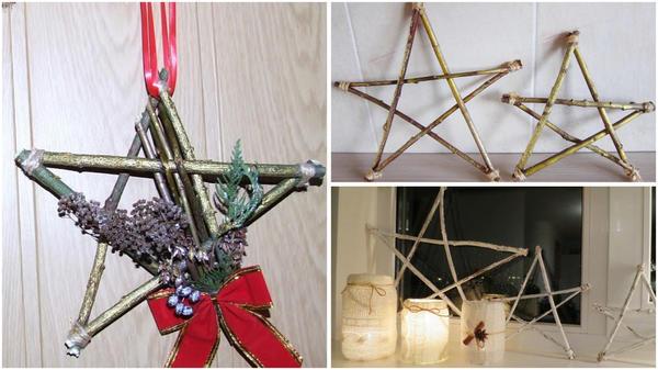 Варианты декора звёзд