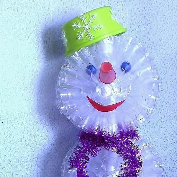 Как сделать снеговика из стаканов фото 361