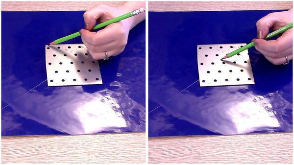 Скруглить уголки и рассверлить центральное отверстие под вал триммера