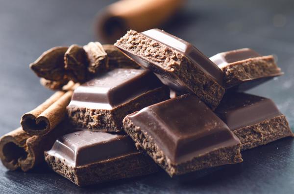 Лучший перекус - орехи и шоколад