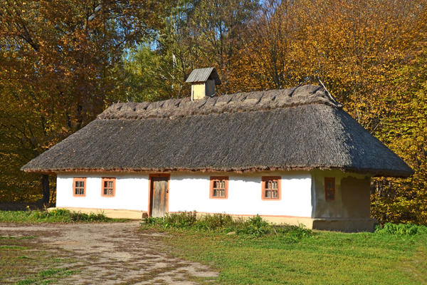 Дом с соломенной кровлей