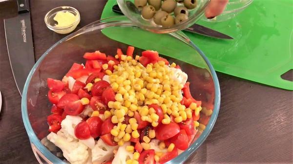 Все овощи в миске