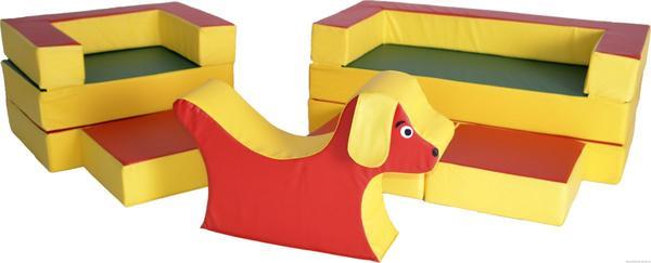 Модульная мягкая мебель для детей. Фото с сайта codevision.breeze38.ru
