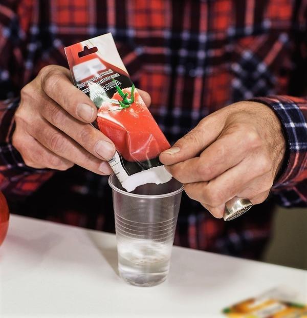 Замочить семена можно в обычном пластиковом стаканчике