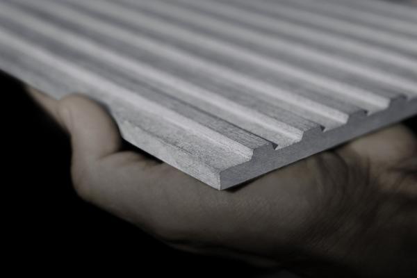 Фрезерованная цементно-стружечная плита. Фото с сайта archdaily.com