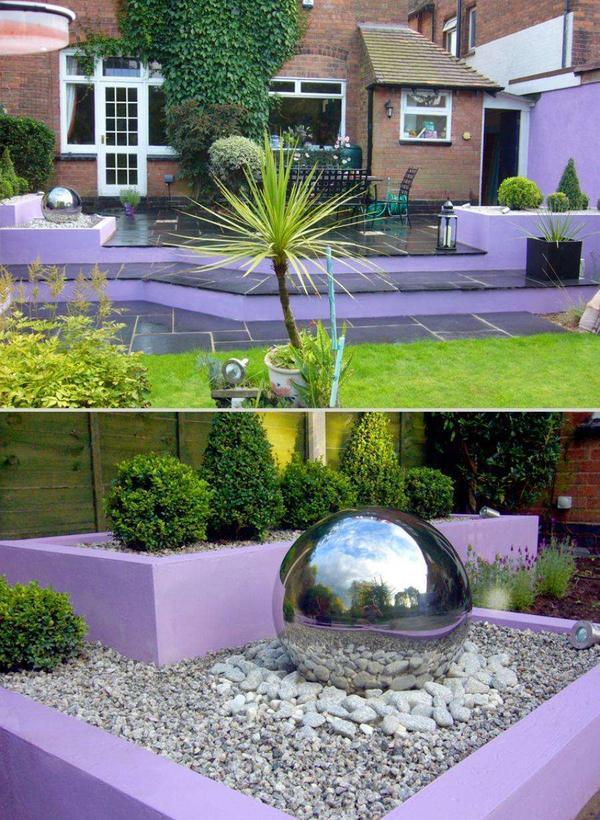 Современная садовая скульптурная композиция — отличная маскировка. Фото с сайта ocinz.com
