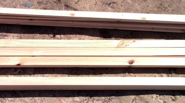 Брус и рейки для изготовления перголы