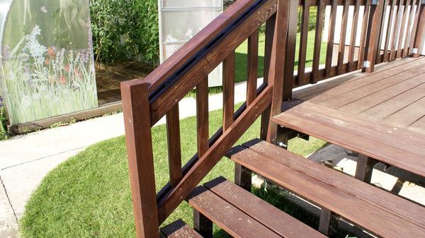 Ограждение лестницы. Фото автора