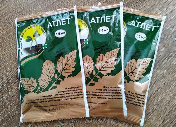 Препарат Атлет тормозит рост стебля