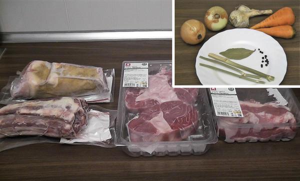 Ингредиенты для говяжьего холодца. Фото автора