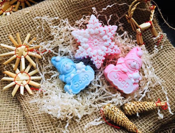 Подарочное мыло к Новому году. Фото автора
