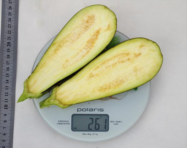 Вес плода от 250 до 300 г