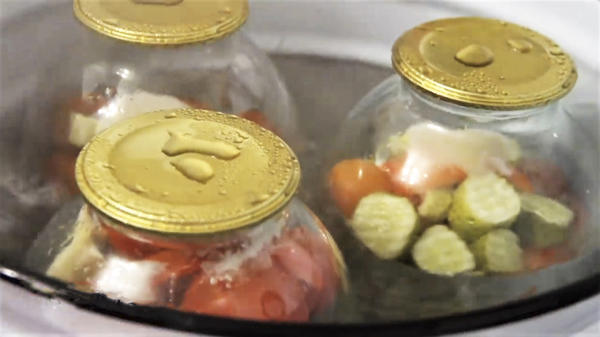 Проводим сухую стерилизацию овощей