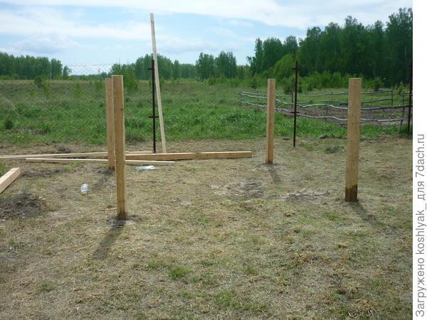Начало строителства началось с разметки