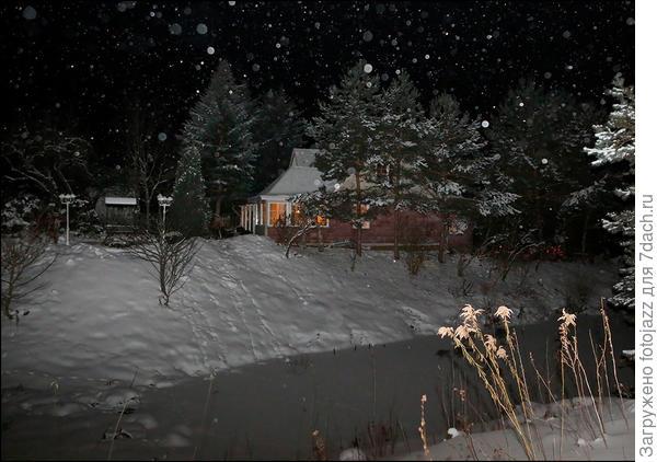 Пошел снег,и Федя предложил сделать еще один снимок.