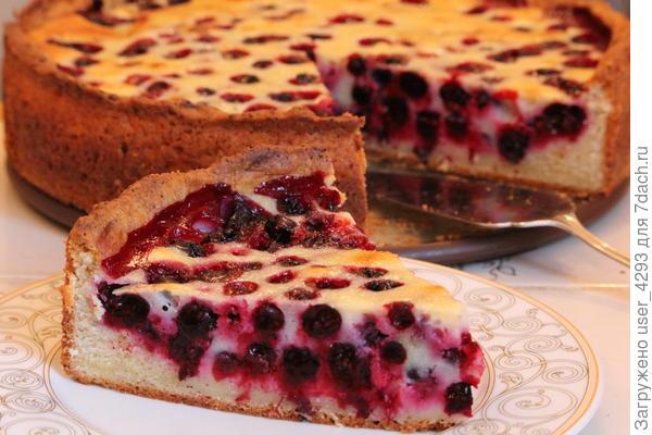 Тарт на творожном тесте без яиц с ягодами