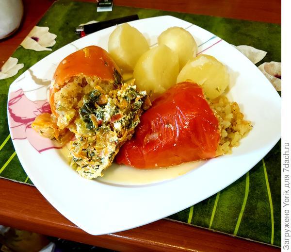 Фаршированные перцы (один из вариантов) - пошаговый рецепт приготовления с фото