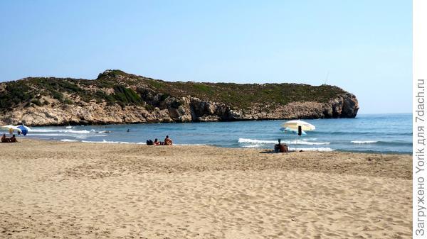 получилось так, что мы побывали и вначале пляжа, и в том месте где он заканчивается