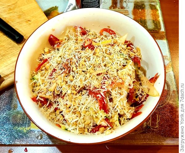 Салат Средиземноморский (одна из вариаций) - пошаговый рецепт приготовления с фото