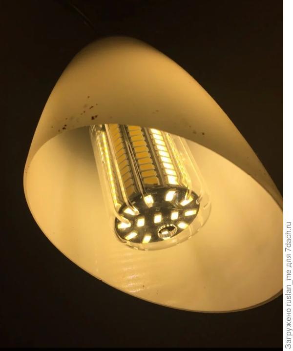 """Тепловой карман. НИКОГДА не следует """"парить"""" ни светодиодную ни люминисцентную лампы."""