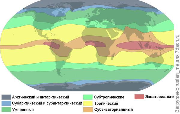 карта широт.
