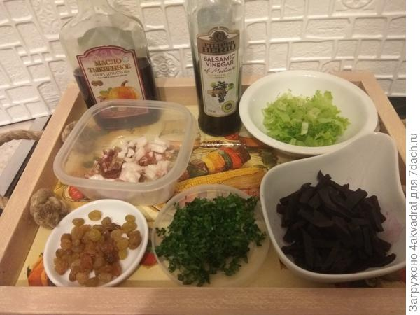 Салат с салом, изюмом и свеклой. Рецепт с пошаговыми фото
